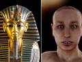 """还原埃及法老""""真面目"""" 金色面具下是龅牙瘸腿"""
