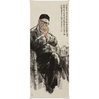 梁漱溟先生  赵晨国画作品