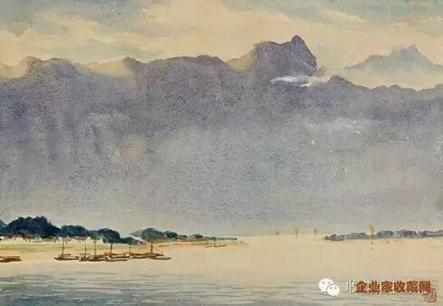 长江风景(一) 水彩纸本 28x40 cm 1976年