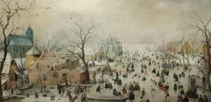 荷兰著名冬季风景画大师亨利克·阿维坎普作品